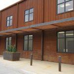 weathering steel facade