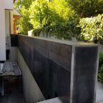 Cladded Weathering Steel Wall
