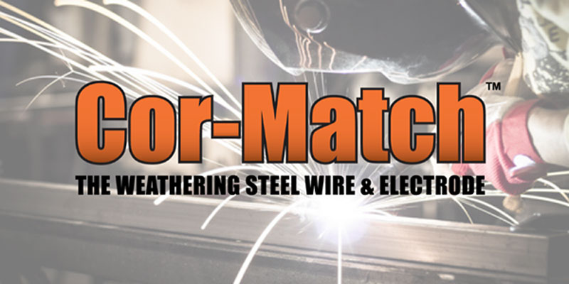 Cot-Match Weathering Steel Wire and Electrode