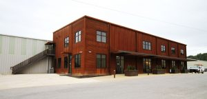 building constructed with weathering steel