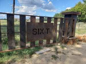 weathering steel gate