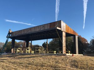weathering steel shooting house