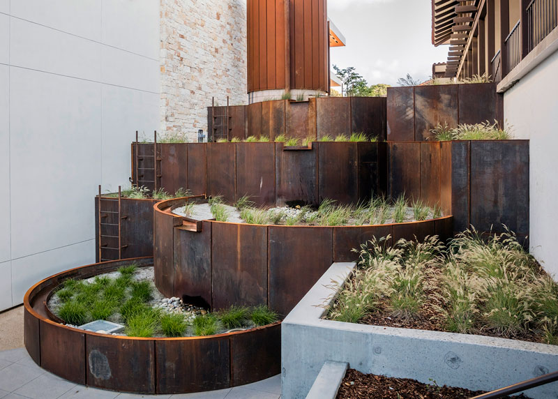 Corten Steel Planter Boxes