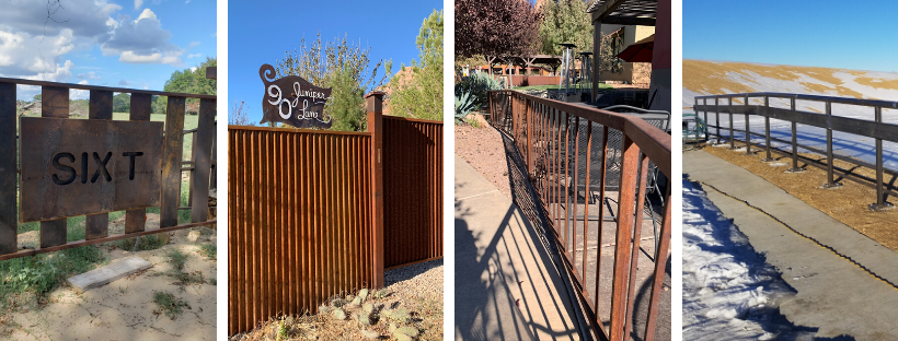 Weathering steel fencing