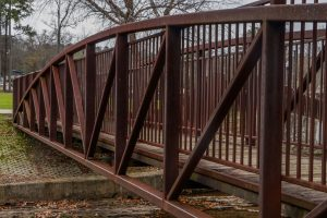 weathering steel pedestrian bridge