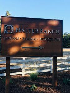 Halter Ranch Corten Signage