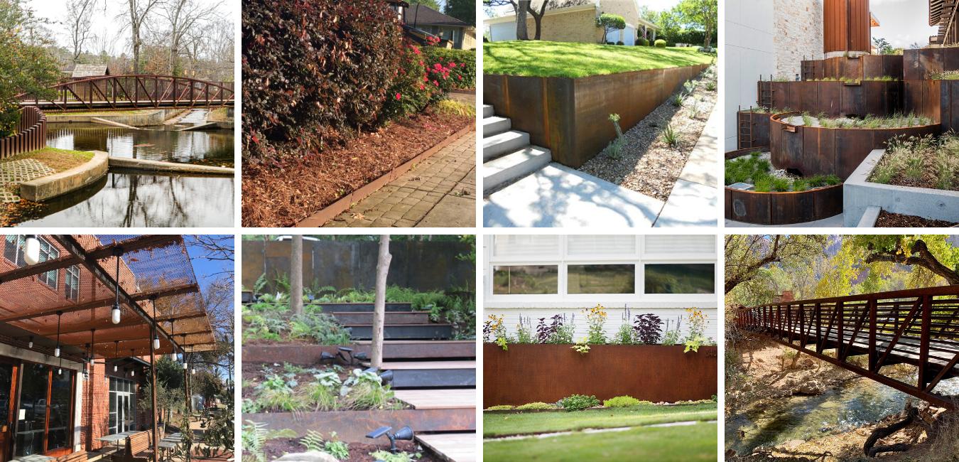 Corten steel landscaping applications