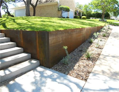 Cot-Ten steel landscape applications
