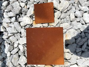 Corten steel sample