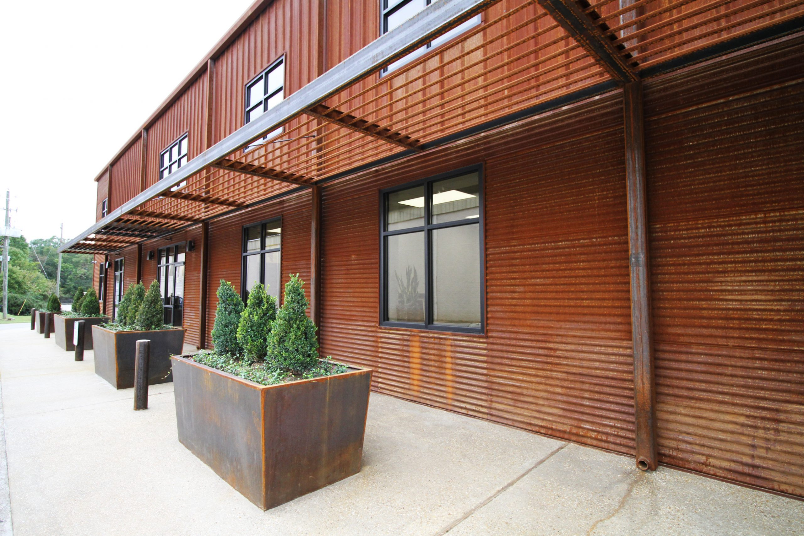 weathering steel office building