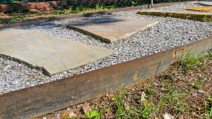 Weathering Steel Landscape Edging