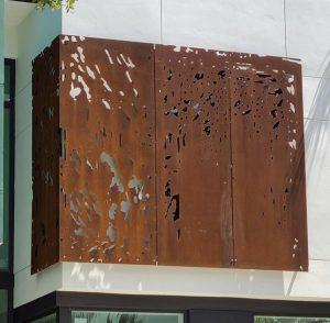 Decorative corten panel