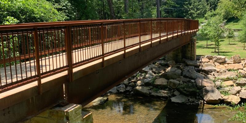 Weathering Steel Pedestrian Bridge