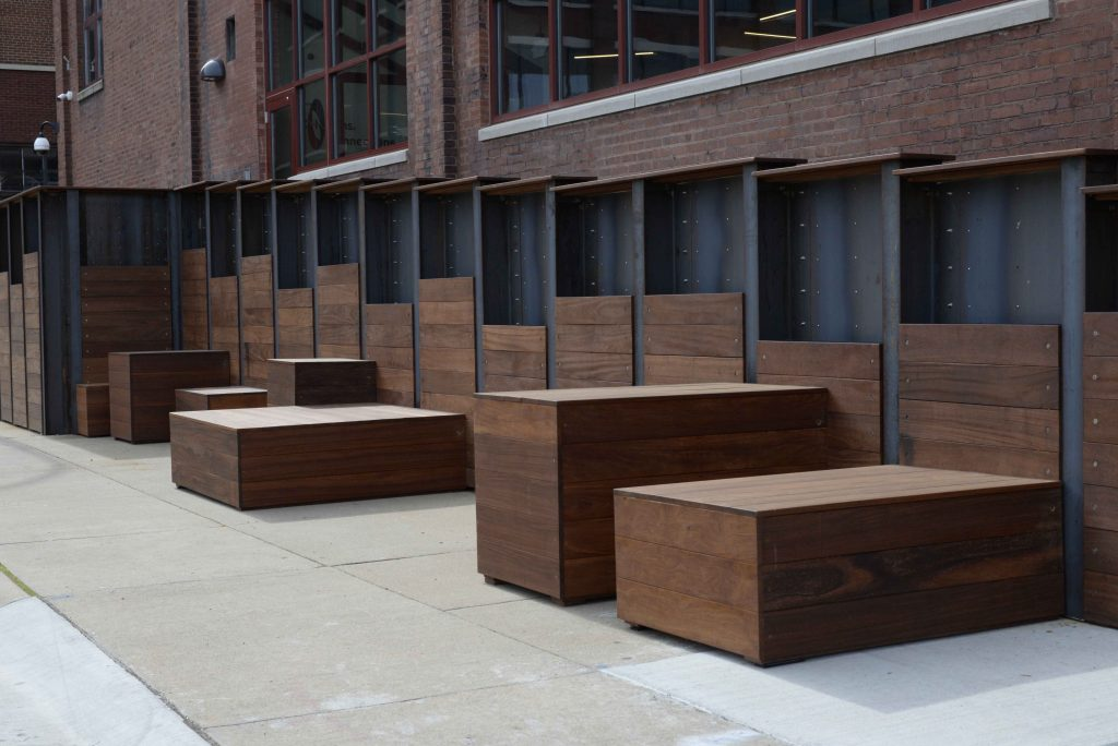 Weathered Steel Planter Boxes