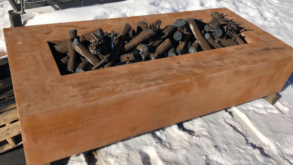 Weathering Steel Fire Pit