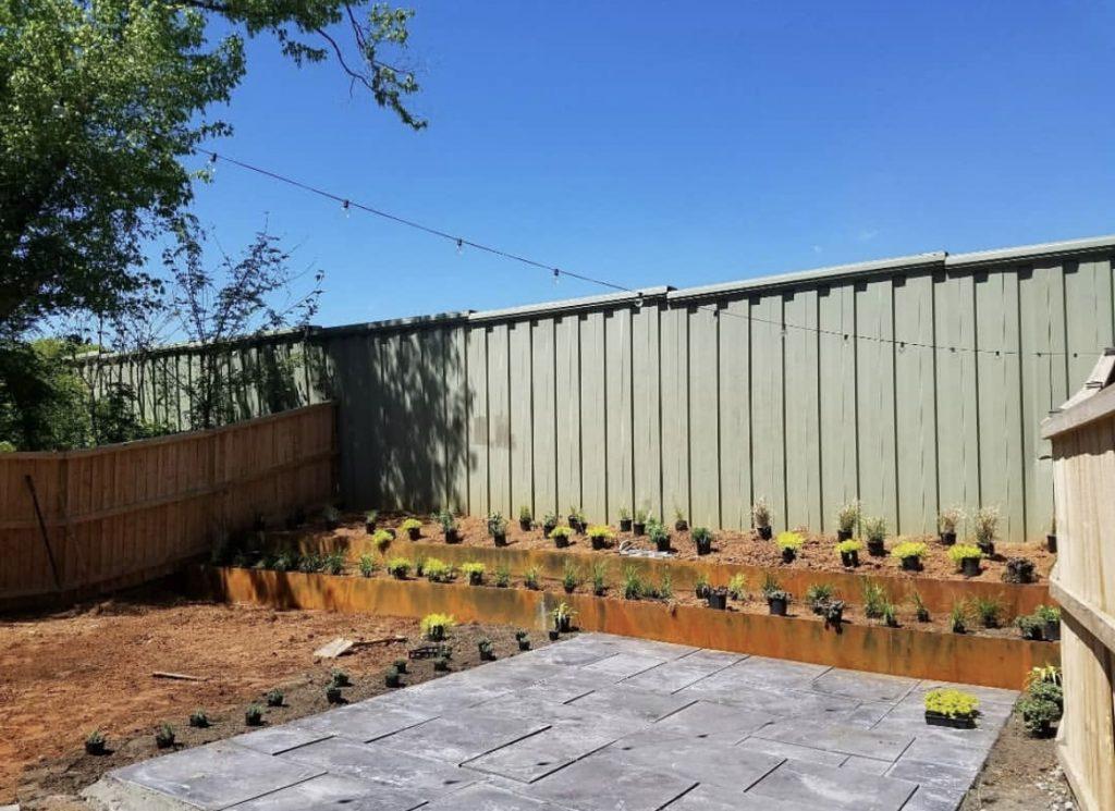 Weathering Steel Raised Planter Bed